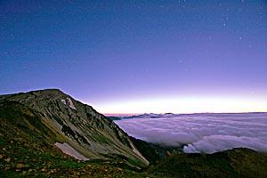 白馬岳に朝が来る