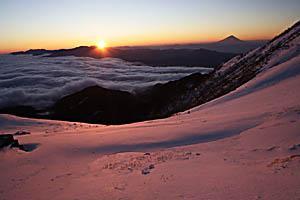 赤岳からの朝日