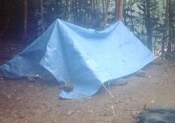 テント内は濡れなかったが・・・