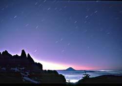 南アルプスからの富士、甲府